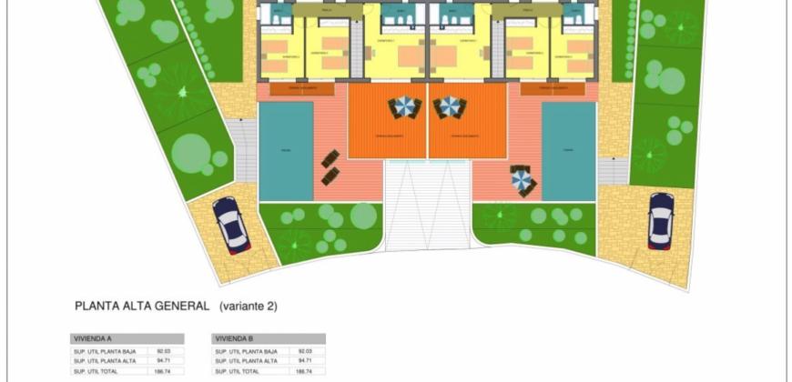 Nieuwbouw geschakelde villa in Benimeit